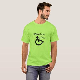 T-shirt Wheelie dans l'amour (T-shirt handicapé)