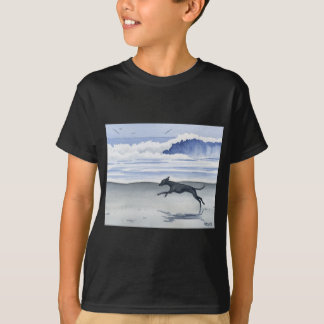 T-shirt Whippet à la plage