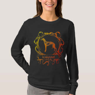 T-shirt Whippet patiné chic