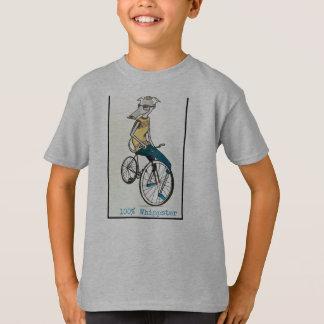 T-shirt Whippet sur un vélo