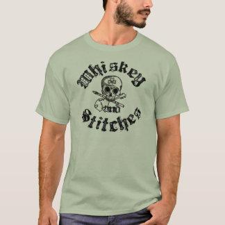 T-shirt Whiskey et chemise des hommes de points