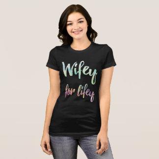 T-shirt wifey en pastel pour la chemise de lifey