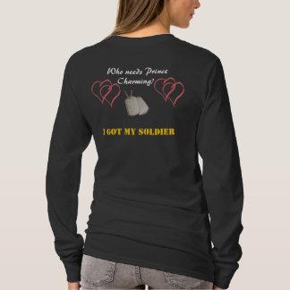 T-shirt wifey fier d'armée