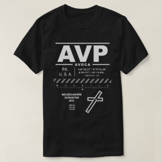 T-shirt Wilkes-Barre/T-shirt aéroport international AVP de