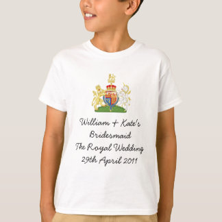 T-shirt William et demoiselle d'honneur de Kate