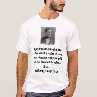 T-shirt William Jennings Bryan, civilizatio anglo-saxon…
