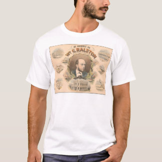 T-shirt William Ralston, président de banque de CA (1384A)