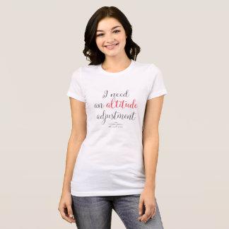 T-shirt WingWords - j'ai besoin d'un ajustement d'altitude