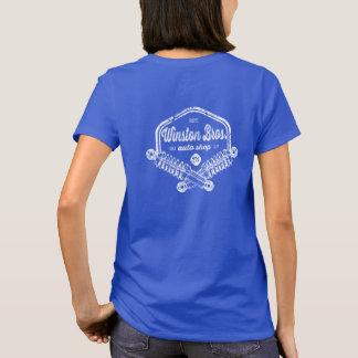 T-shirt Winston Bros. Chemise de magasin auto - beau