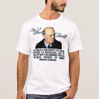 T-shirt Winston Churchill sur le socialisme