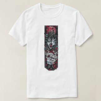 T-shirt Wolf Alpha, Blanc