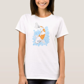 T-shirt woman koi orange