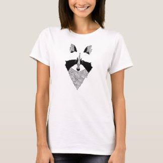 T-shirt woman raccoon, raton laveur
