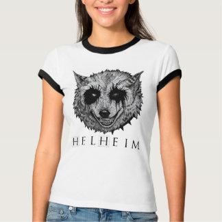 T-Shirt Woman W - Black Wolf