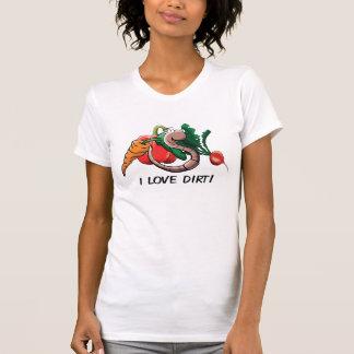 """T-shirt Wormy je du ver """"aime la saleté !"""" Chemise"""
