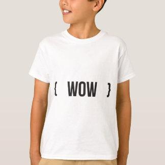 T-shirt Wouah - Encadré - noir et blanc