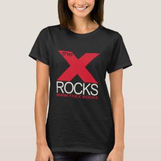 T-shirt X noir de base de dames