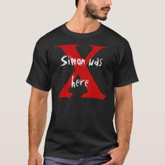 T-shirt X, Simon était ici