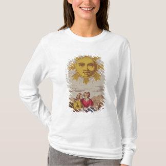T-shirt XVIIII Le Soleil, carte de tarot française du Sun