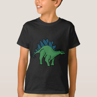 T-shirt XX bande dessinée de dinosaure de Stegosaurus