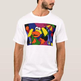 T-shirt XX canard d'art de cubiste