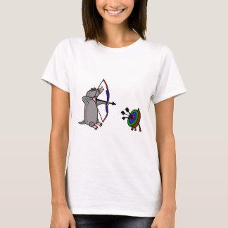 T-shirt XX taupe aveugle en concurrence de tir à l'arc