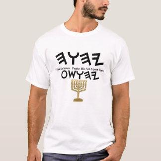 T-shirt Yahuah Yahusha avec Menorah