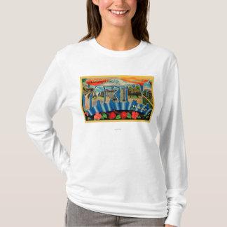 T-shirt Yakima, Washington - grandes scènes 2 de lettre
