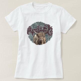 T-shirt Yaks tibétains avec l'incantation de Mani