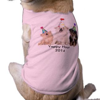 T-shirt Yappy de chienchien de fille d'heure T-shirt Pour Chien