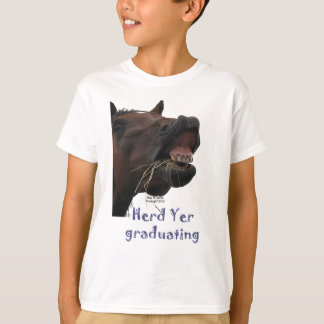T-shirt YER de troupeau recevant un diplôme le cheval