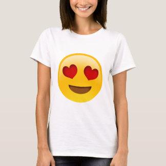 T-shirt Yeux de coeur d'Emoji T-Paita