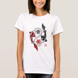 T-shirt Yin et poissons de Yang Koi