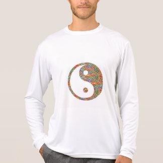 T-shirt Yin Yang et art canadien de bijou de mine d'or
