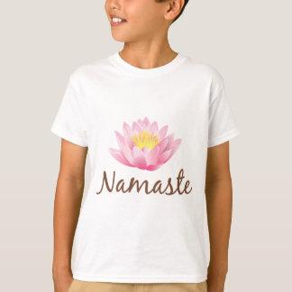 T-shirt Yoga de fleur de Namaste Lotus