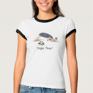 T-shirt Yoga, Downdog et guerrier de hérisson III