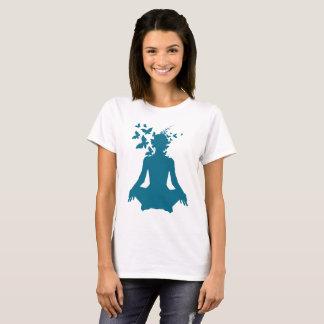 T-shirt yoga, esprit, méditation, paix, libre, heureux,