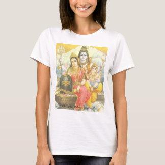 T-shirt Yoga Parvati, Shiva, Ganesh