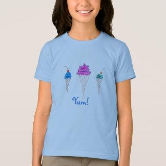 T-shirt Yum conception 1 de crème glacée de série