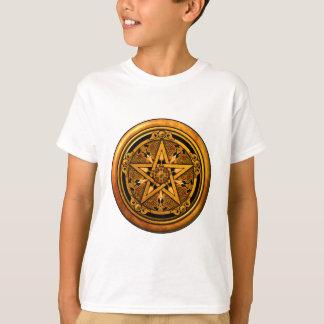 T-shirt Zazzle - Pentagramme-noback masculin d'or