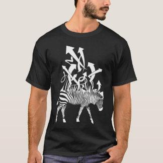 T-shirt Zèbre-blanc-pour-foncé-chemises