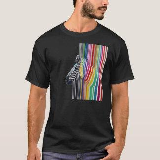 T-shirt zèbre vibrant coloré à la mode impressionnant de