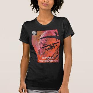 T-shirt zeppelins contre des pterdactyls