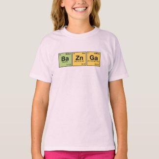 T-shirt ZN GA DE BA ! Éléments périodiques orthographiant