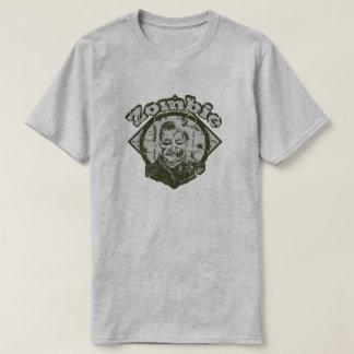 T-shirt Zombi - vert et blanc fanés