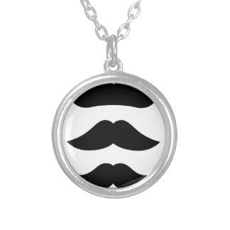 T-shirts avec des moustaches, produits pendentif rond
