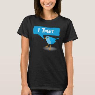 T-shirts bleu mignon de dames d'oiseau de