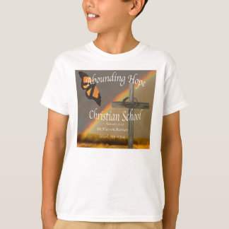 T-shirts chrétien de abondance d'école d'espoir