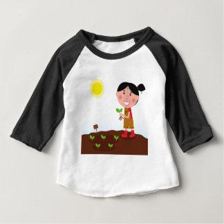 T-shirts créatifs de fille mignonne d'agriculture
