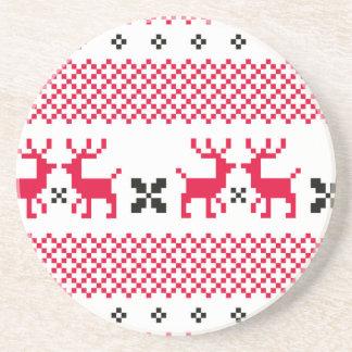 T-shirts créatifs de rennes mignons dessous de verre